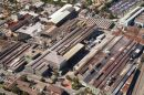 Iron Smelting and Steel Manufacturing Factory, Mayfiield West, Newcastle, New South Wales, Australia - aerial