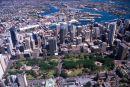 Hyde Park & Sydney CBD, Australia - aerial