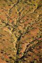 Erosion patterns, near Warmun (Turkey Creek), Kimberley Region, Western Australia, Australia - aerial