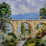 Alfaix Bridge, Almeria, Spain. Watercolour NFS