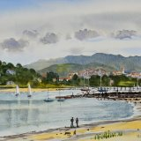 Baie de Chingoudie, Hendaye, France. Wartercolour 38 x 29cm