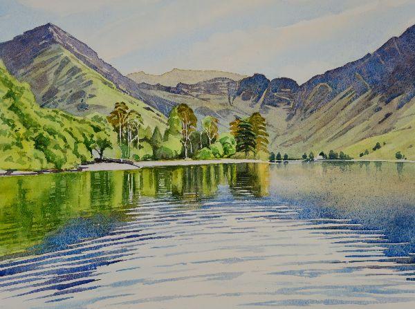 Buttermere, Cumbria. Watercolour 49 x 39cm