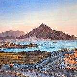 Coast near Hadbin, Dhofar. Watercolour 67 x 46cm