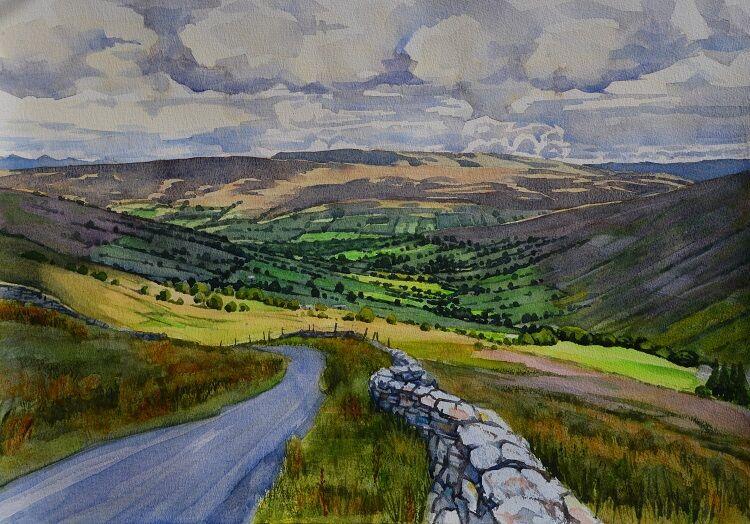 Deepdale, North Yorkshire Watercolour 58 x 41cm