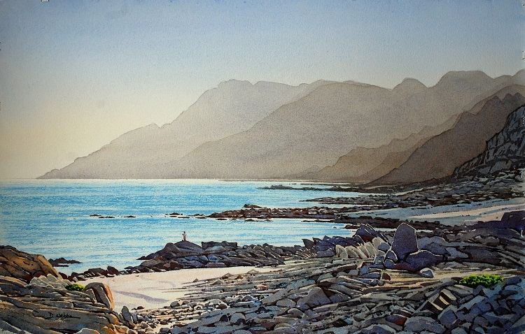 Dhofar Coastline, Oman. Watercolour 70 x 48cm