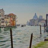 Grand Canal and Santa Maria della Salute, Venice. Watercolour 47 x 40cm