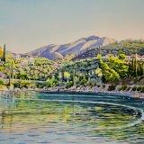 Kardamyli Bay, Greece. Watercolour 64 x 43cm
