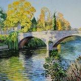 Low Bridge, Knaresborough, Yorkshire. Watercolour 59 x 39cm