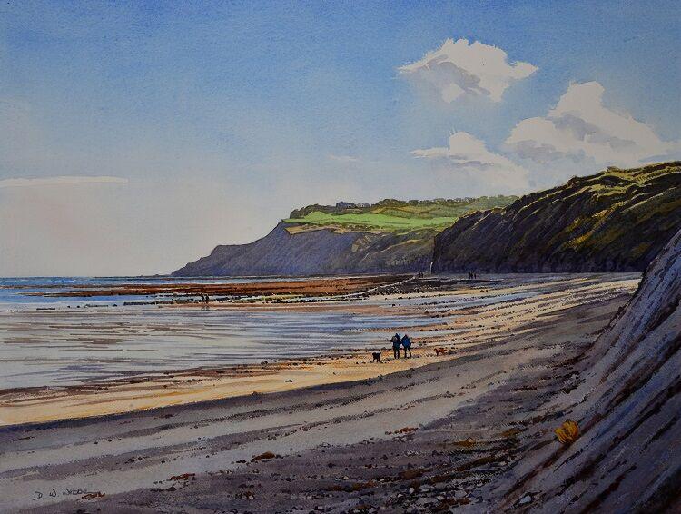 Low Tide, Robin Hood's Bay. Watercolour 72 x 55cm