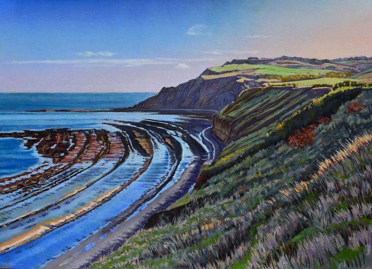 Low tide near Ravenscar. Pastel 68 x 48cm