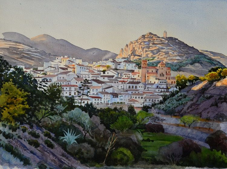 Lubrin, Almeria, Spain. Watercolour 48 x 37cm