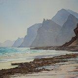 Mughsayl Beach, Dhofar, Oman. Watercolour 70 x 48cm