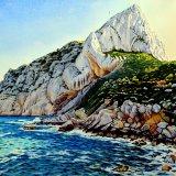Penon de Ifach, Calpe, Spain. Watercolour 72 x 53cm