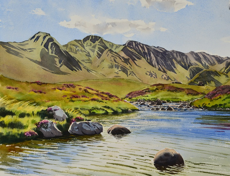 Rannoch Moor, Scotland. Watercolour 56 x 44cm