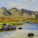 Rannoch Moor, Scotland. Watercolour 56 x 44cm