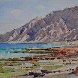 Sifah, low tide. Watercolour 36 x 27cm