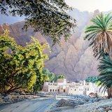 Siya Village, Oman. Watercolour 63 x 45cm