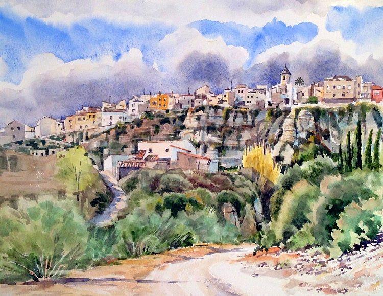 Sorbas, Spain. Watercolour 50 x 40 cm NFS