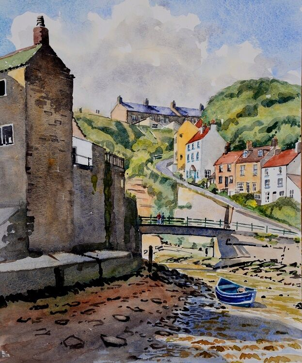 Staithes, North Yorkshire. Watercolour 39 x 49cm