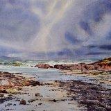Stormy sky at St Brides, Pembrokeshire. Watercolour 54 x 33cm