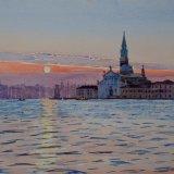 Sunrise behind San Giorgio Maggiore