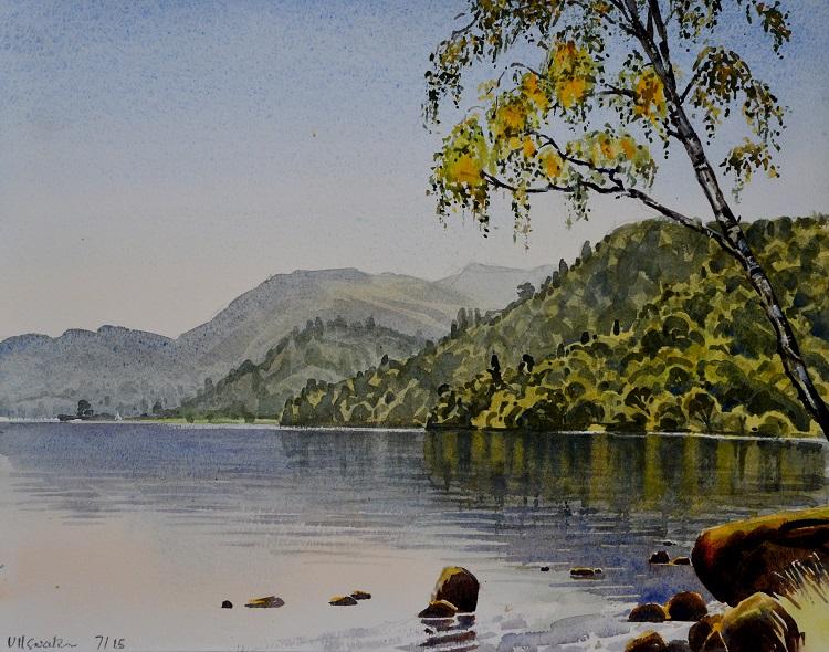 Ullswater, Lake District. Watercolour, 44 x 34 cm