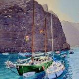 Valle Gran Rey, La Gomera, Canary Islands. Watercolour 47 x 69cm