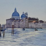 View from below Accademia Bridge. Watercolour NFS.