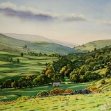 View up Arkengarthdale. Watercolour 57 x 38cm