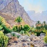 Wadi Mazara. Watercolour 44 x 58cm