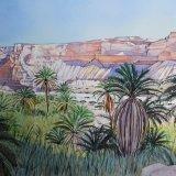 Wadi Shuwaymiyah, Oman. Watercolour 69 x 45.5cm