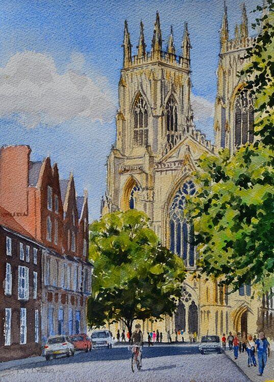 York. Watercolour 26 x 34cm