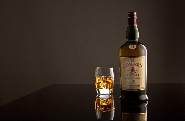 Jameson Irish Whiskey with tumbler