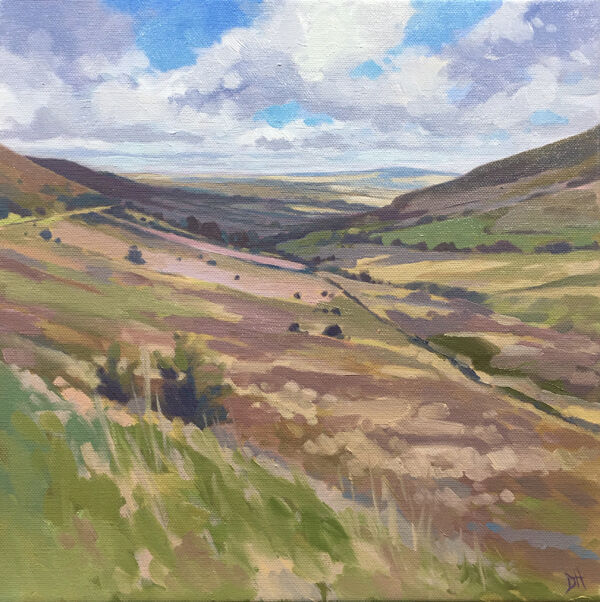 dawn harries, february brecon, oil painting, landscape painting