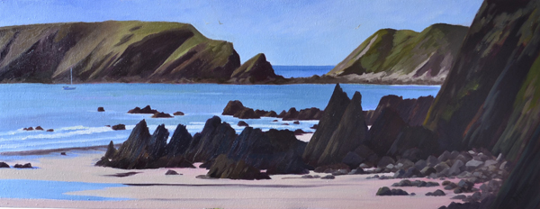 Raggle Rocks at Marloes Sands - Oil