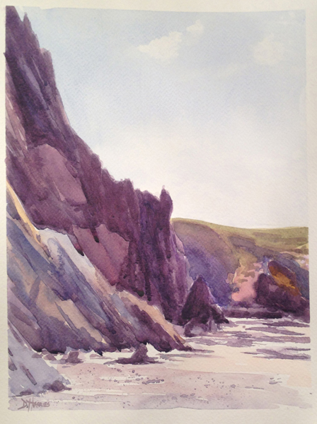 Marloes Sands - watercolour
