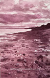 Penarth Beach in Violet