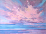 dawn harries, reflected sunset, cloud study, oil painting,