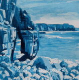 St Govans Arch in Blue