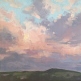 dawn harries, oil painting, sunset glow, landscape painting, cloudscape