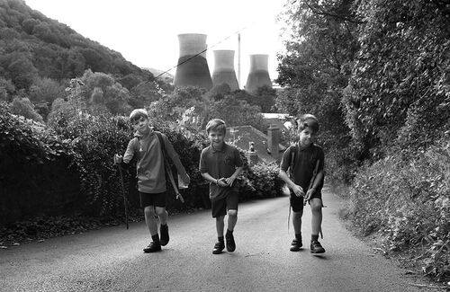 Walking home from school Britain 2019