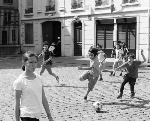 Street football in Lyon