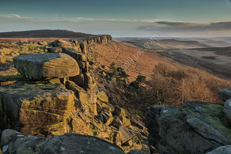 AFTERNOON GLOW ON STANAGE EDGE by Christine Maughan