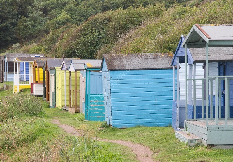 BEACH HUTS by Malcolm Neal