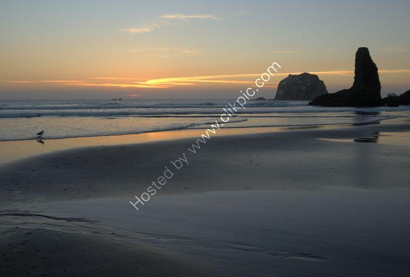 BEACH SUNSET by Peter Dishart