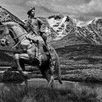 BONNIE PRINCE CHARLIE RETURNS FROM DERBY TO RANNOCH MOOR by Stanley J Annable