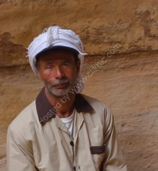CLEANER AT PETRA by Malcolm Neal