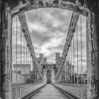 CONWY SUSPENSION BRIDGE by Christine Maughan