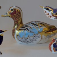 CROWN DERBY BIRDS by Derrick Tuplin