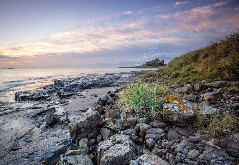 EARLY MORNING BAMBURGH by Mike Arblaster